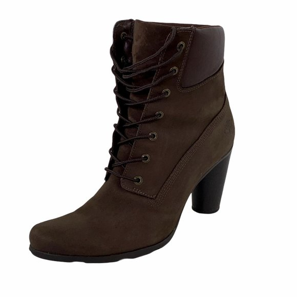 Timberland Glancy Brown Leather Ankle Boot 9.5
